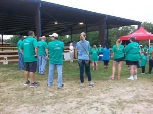 SIRE Director Lili Kellogg welcoming the volunteers