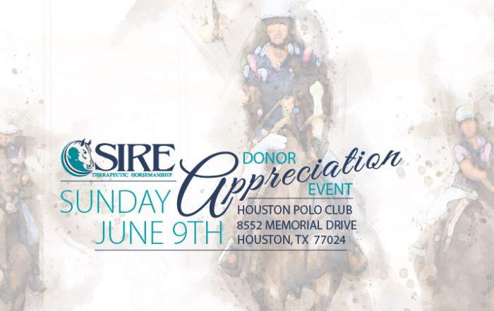 SIRE Donor Appreciation Event, Sunday, June 9