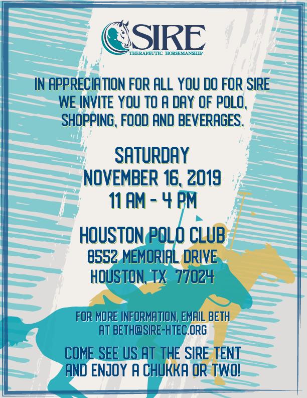 Polo Appreciation Event poster