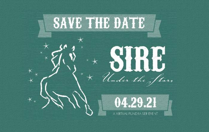 Announcement card for SIRE Under the Stars 2021