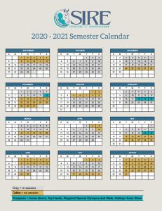 SIRE Semester Calendar 2020-2021