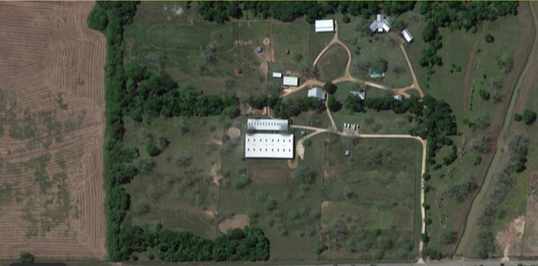aerial view of Fulshear facility